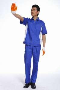 夏季透气工作服套装男短袖工装劳保服汽修工程服加工定制